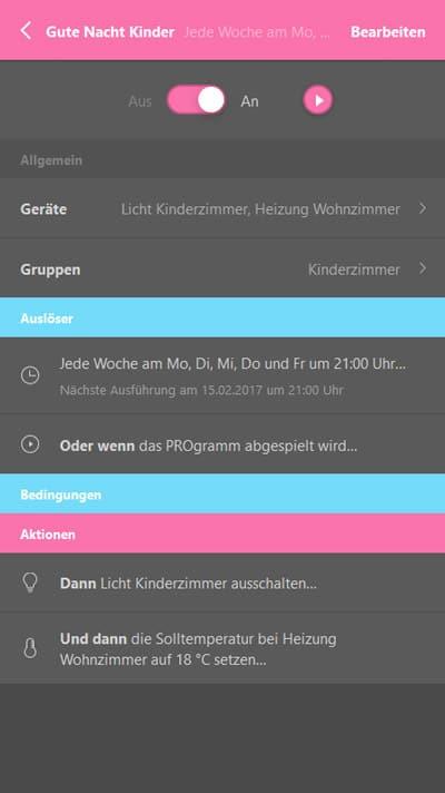 Afrisohome App Anwendung Zeitschaltung