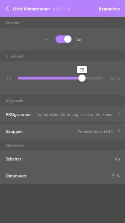 Afrisohome App Anwendung Licht