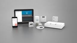 Afriso Smart Home Übersicht des Gateways, der App, Aktoren und Sensoren