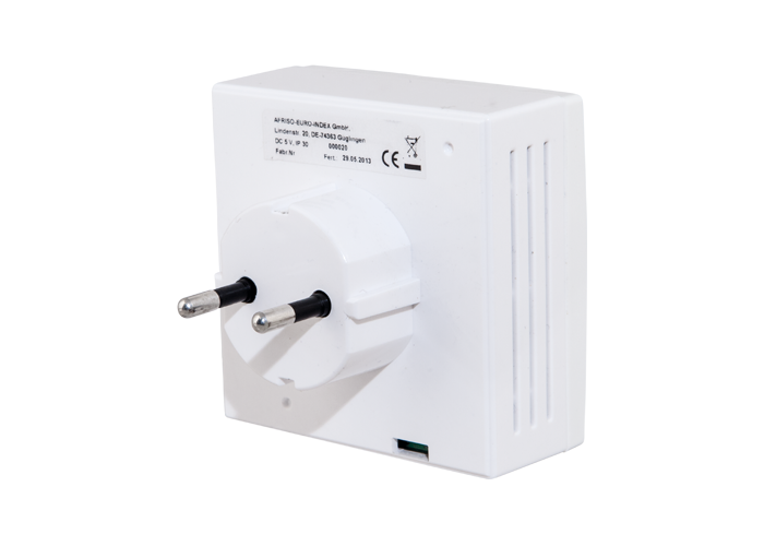 AFRISO Smart Home Produkt Funk CO2 Sensor Stecker hinten